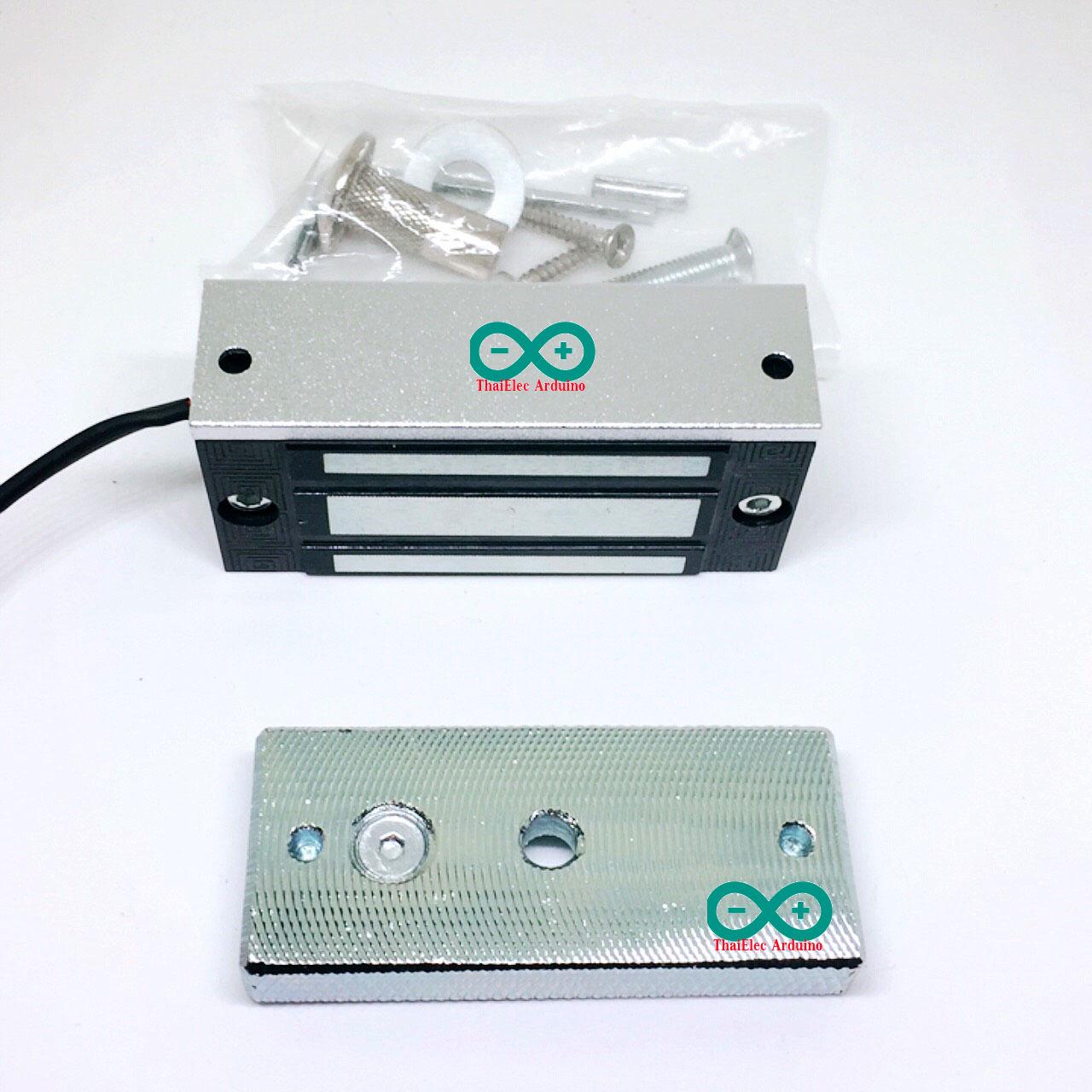 กลอนแม่เหล็กไฟฟ้า กลอนไฟฟ้า Magnetic Lock 60 kg 24V (Amode)