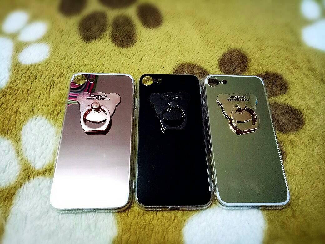 TPU โครเมี่ยมพร้อมแหวน iphone7/iphone8(ใช้เคสตัวเดียวกัน)