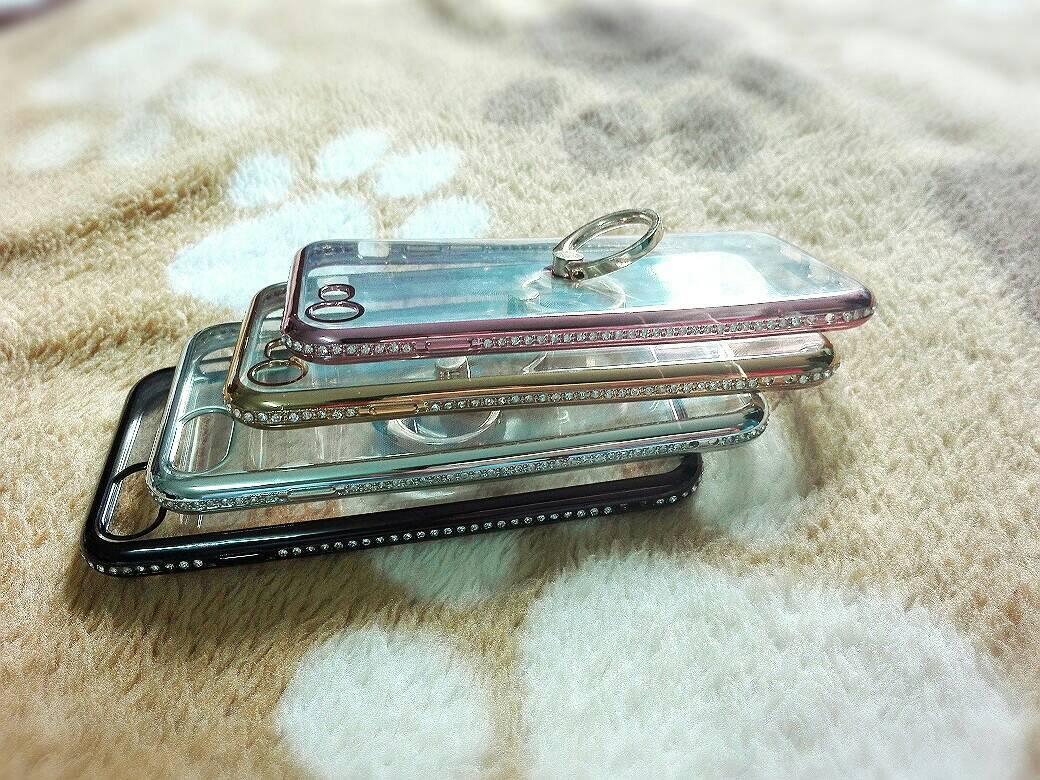Tpu ขอบเพชร (มีเเหวน) iPhone7/iphone8(ใช้เคสตัวเดียวกัน)