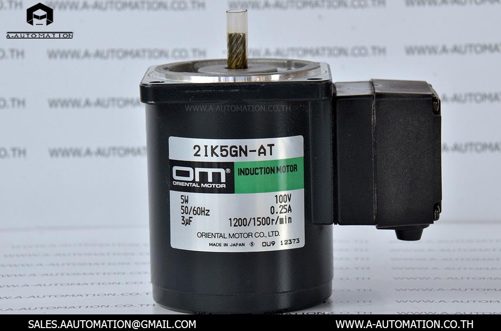 INDUCTION MOTOR MODEL:2IK5GN-AT [5W/100V][ORIENTAL MOTOR]