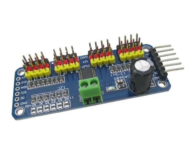16 channel, 12 bit pwm / servo driver i2c interface pca9685 module for arduino and raspberry pi servo shield shield module