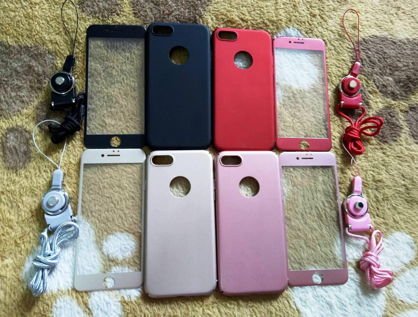 PC พร้อมกระจกสี(มีสายห้อยคอ) iphone7/iphone8(ใช้เคสตัวเดียวกัน)