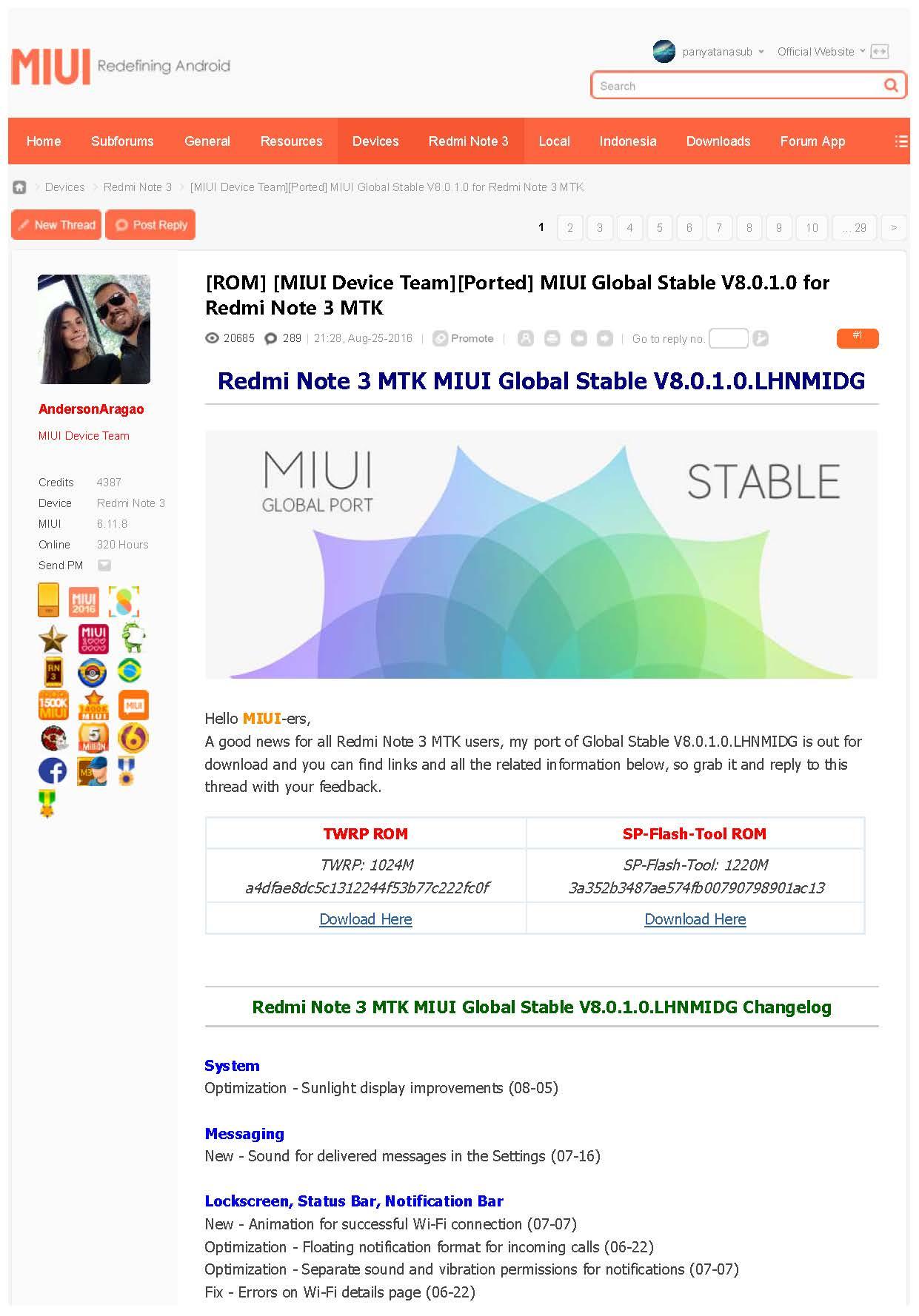 วิธีแฟลช Redmi Note 3 MTK MIUI Global Stable V8 0 1 0