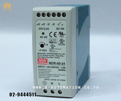 POWER SUPPLY MEAN WELL MODEL:MDR-60-24