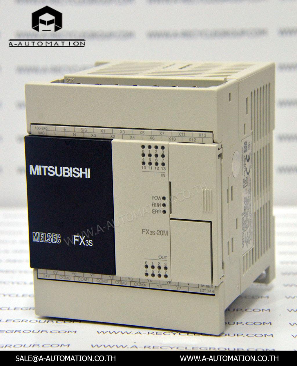 PLC MODEL:FX3S-20MR/ES [MITSUBISHI]