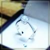 แหวนเงินแท้ เพชรสังเคราะห์ ชุบทองคำขาว รุ่น RG1705 Triangle