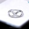 แหวนเงินแท้ เพชรสังเคราะห์ ชุบทองคำขาว รุ่น RG1303 Diamond Infinity