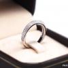 แหวนเงินแท้ เพชรสังเคราะห์ ชุบทองคำขาว รุ่น RG1620 luxury line