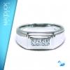 แหวนเงินแท้ เพชรสังเคราะห์ ชุบทองคำขาว รุ่น RG1510 3D Smart