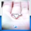 แหวนเงินแท้ เพชรสังเคราะห์ ชุบทองคำขาว รุ่น RG1557 Cute Heart
