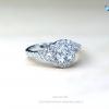 แหวนเงินแท้ เพชรสังเคราะห์ ชุบทองคำขาว รุ่น RG1441 Head&Shoulder Twist