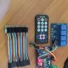 ชุดควบคุมไฟฟ้าผ่าน Infrared remote control + Arduino Uno R3 (ch340G) +สายจั้ม +Relay 4 OUT