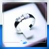 แหวนเงินแท้ เพชรสังเคราะห์ ชุบทองคำขาว รุ่น RG1477 Heart Lock
