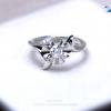 แหวนเงินแท้ เพชรสังเคราะห์ ชุบทองคำขาว รุ่น RG1430 Leela Flower