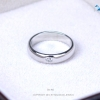 แหวนเงินแท้ เพชรสังเคราะห์ ชุบทองคำขาว รุ่น RG1457 Dot G