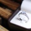 แหวนเงินแท้ เพชรสังเคราะห์ ชุบทองคำขาว รุ่น RG1516 5mm Square Elegrant