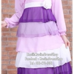 ☆ ✧ Colourful Layered Chiffon Dress✧ ☆Purple