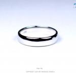 แหวนเงินแท้ เพชรสังเคราะห์ ชุบทองคำขาว รุ่น RG1406 Plain G