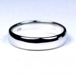 แหวนเงินแท้ เพชรสังเคราะห์ ชุบทองคำขาว รุ่น RG1405 Plain B