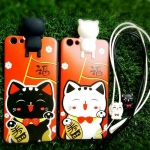 แมวนำโชคเกาะหลัง(new)(มีสายคล้องคอ)Oppo R9S plus/R9S Pro(ใช้เคสตัวเดียวกัน)