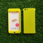 PC ประกบ360องศา+ฟิล์มกระจกสีเหลือง iphone6 plus/6s plus