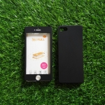 PC ประกบ360องศา+ฟิล์มกระจกสีดำ iphone5/5s/se