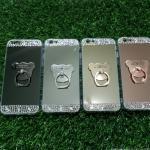 Tpu โครเมี่ยมประดับเพชรหัวท้าย(มีแหวน) iPhone6/6s
