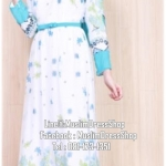 ☆ ✧ Floral Printed Chiffon Dress ✧ ☆LIGHT BLUE