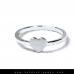 แหวนเงินแท้ เพชรสังเคราะห์ ชุบทองคำขาว รุ่น RG1576 Tiny Heart