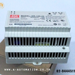 POWER SUPPLY MEAN WELL MODEL:DR-100-24 ยึดราง