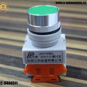Push button Model:LAY37 สีเขียว