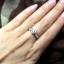 แหวนเงินแท้ เพชรสังเคราะห์ ชุบทองคำขาว รุ่น RG1471 Siam Crown thumbnail 2