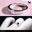 แหวนเงินแท้ เพชรสังเคราะห์ ชุบทองคำขาว รุ่น RG1475 Dot Moon Square G thumbnail 3