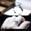 แหวนเงินแท้ เพชรสังเคราะห์ ชุบทองคำขาว รุ่น RG1610 4ct HS thumbnail 1