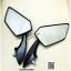 ของแต่ง PCX กระจกแต่ง กระจกติดหน้ากาก น๊อต 8 mm พลาสติก สีดำ N0.100006 thumbnail 3