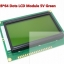 128x64 Dots Graphic Green Color Backlight LCD Display Module for arduino raspberry pi thumbnail 1