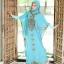 ชุดเดรสชีฟองทรงค้างคาวพร้อมชุดอินเนอร์ BLUE