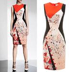 DR_7980, ชุดแซก-เดรสแบรนด์ Red Abstract, Anne Klein, July, 2015, Dress, Red, ~2000-2999
