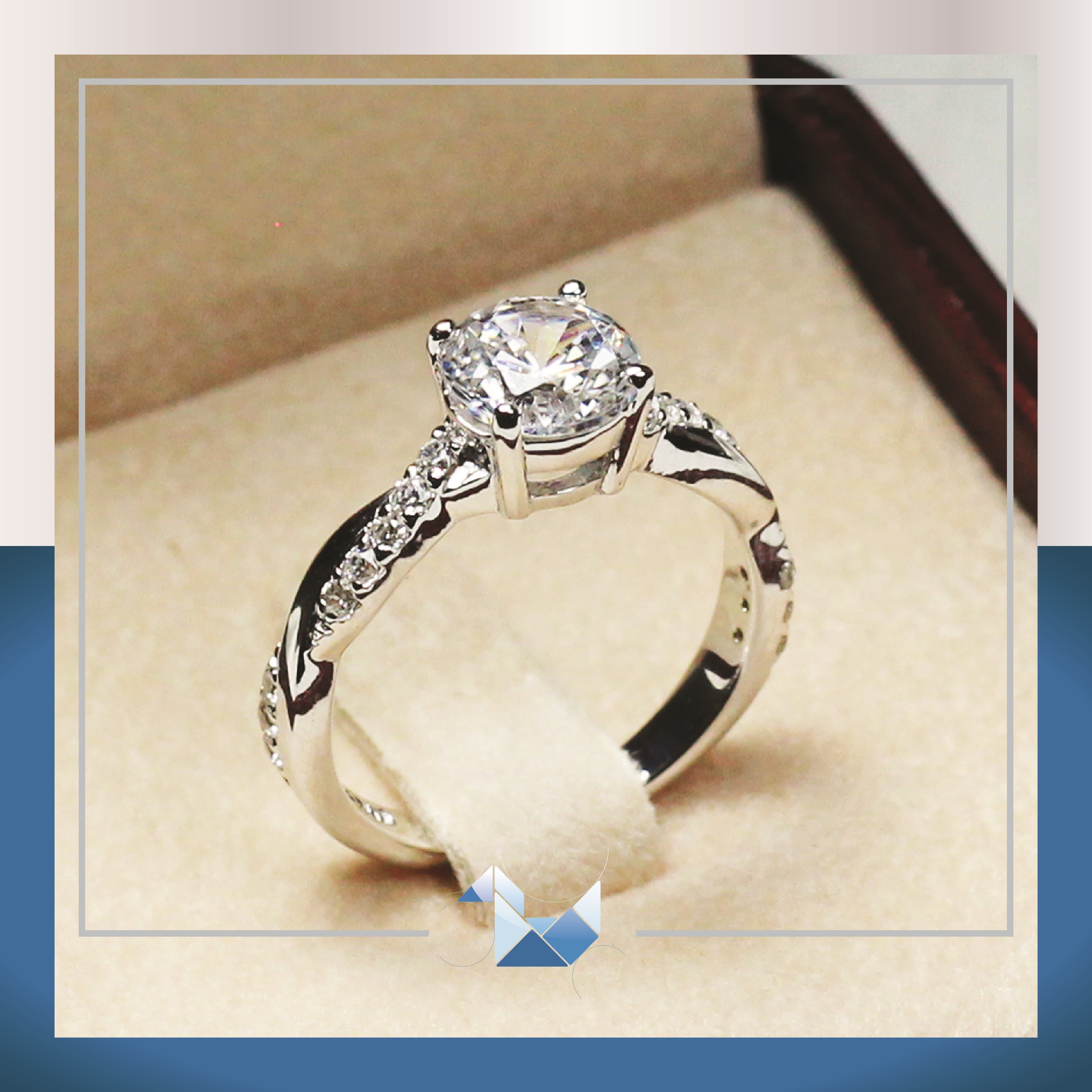 catalog wg rhodium engagement rings ring entourage brilliant diamond cut