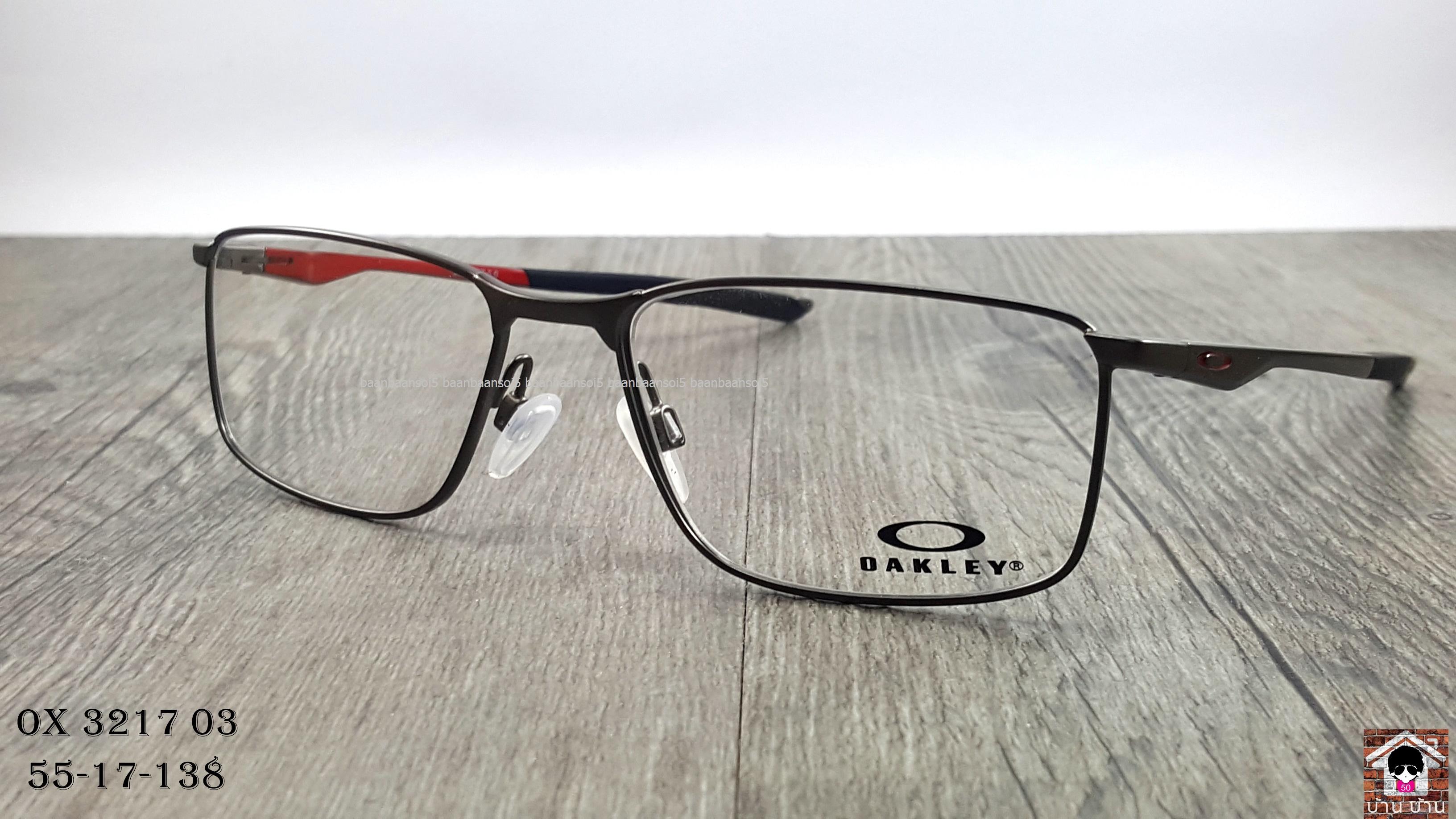a29e97e2aea OAKLEY OX3217-03 SOCKET 5.0 โปรโมชั่น กรอบแว่นตาพร้อมเลนส์ HOYA ราคา